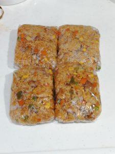 冷凍用のチキンライス